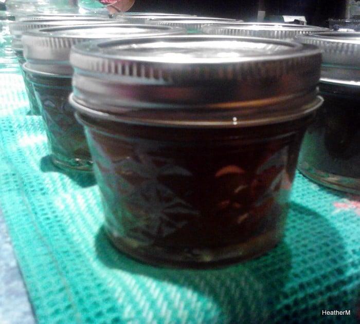 home canned peach jam