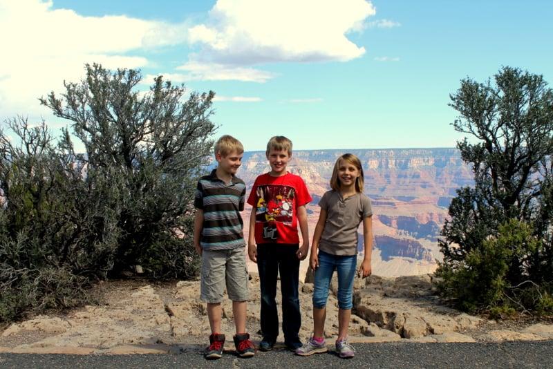 Kids at Grand Canyon 2014