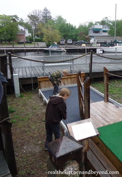 Tuckerton Seaport has a great playground, petting farm, and miniature golf area for the kids to run and play