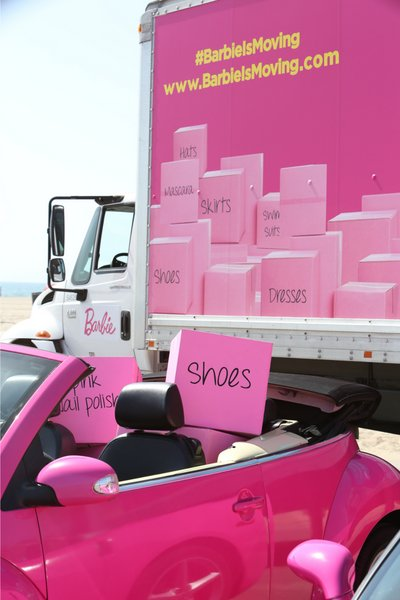 #BarbieIsMoving and invites you to stop in and welcome her as she visits towns and cities across the country