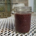 Blueberry masks kale is this kid friendly, #dairyfree smoothie