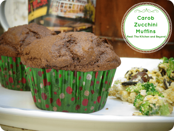 """the lightest muffin I ever ate."" Carob and zucchini blend smoothly together in this egg free #muffin. Perfect for brunch"