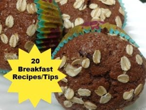 20 Make ahead breakfast #recipes and #tips to make morning routines easier.
