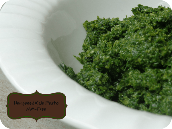 Hempseed Kale Pesto is full of nutritiona nd a great subsitute for those with nut allergies. It's our favorite! #pesto #recipes