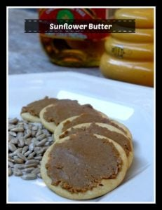 Sunflower butter is a great peanut butter replacement for kids' school lunches. Make it yourself for less. #fabulouslyfrugalthursday #nutfree