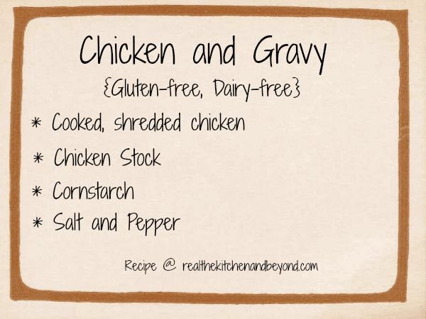 easy to make chicken and gravy ~ realthektichenandbeyond.com