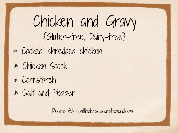 easy to make chicken and gravy ~ realthektichenandbeyond.com