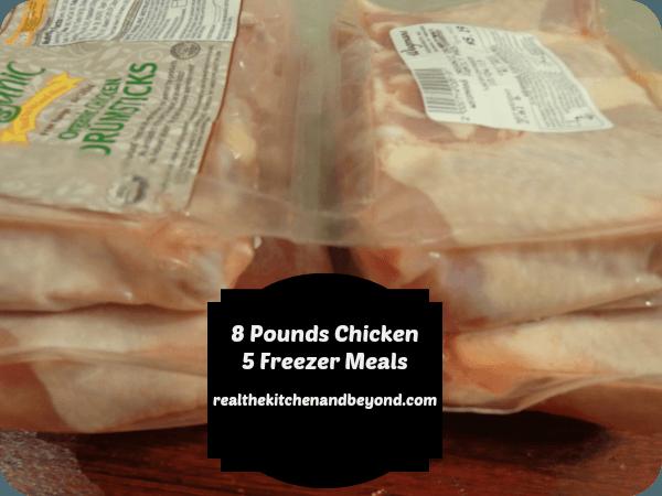 Make 5 freezer meals from 8 pounds of chicken drumsticks - realthekitchenandbeyond.com
