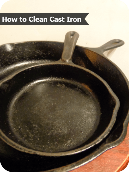 Great tips for how to clean cast iron pans