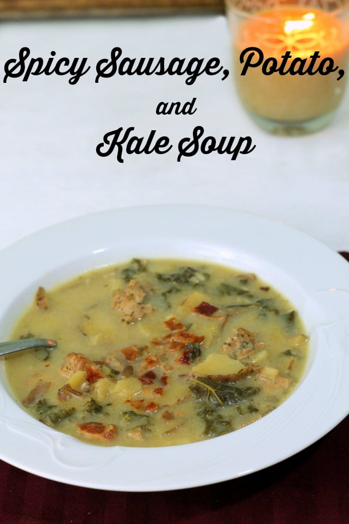 Spicy Sausage, Potato, and Kale Soup - great soup recipes for chilly days