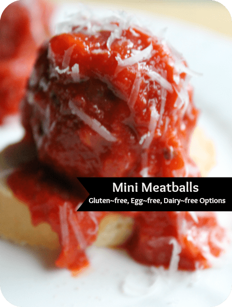 allergy friendly meatball recipe