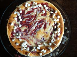 juniors white chocolate cranberry cheesecake recipe #dessert
