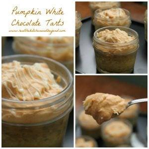 pumpkin white chocolate tarts