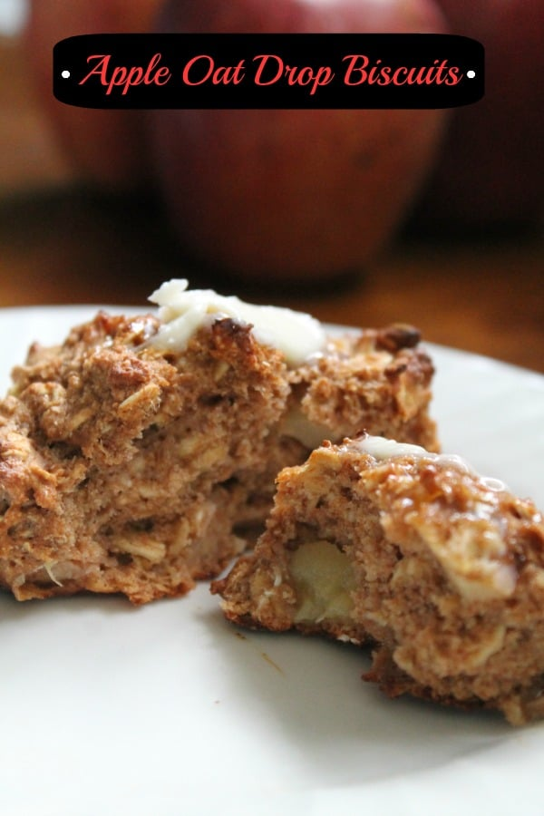 Apple Oat Drop Biscuits