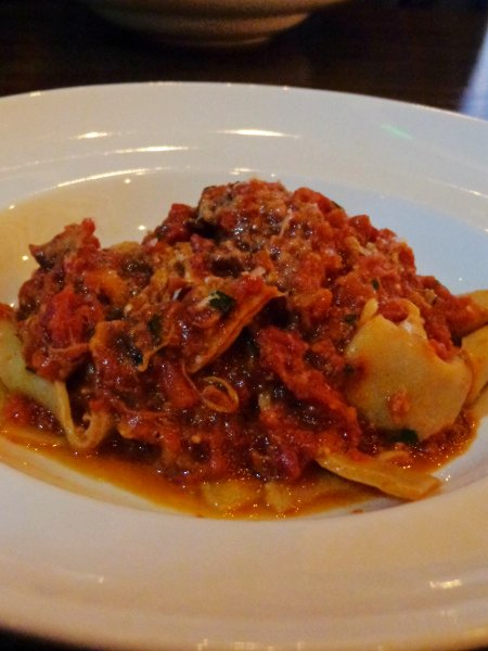 Avero Bar Italiano Braised Veal San Marzano Tomatoes over Pappardelle