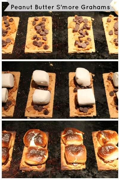 Peanut Butter smore graham steps