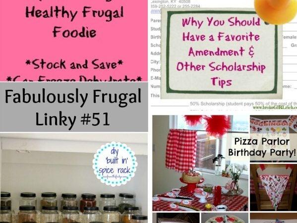 fabulously frugal linky 51