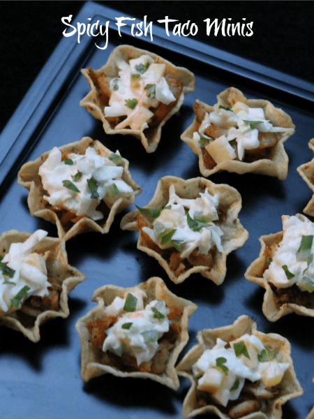 spicy fish taco minis