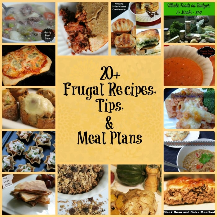 20+ frugal food tips, recipes, and meal plans | www.realthekitchenandbeyond.com