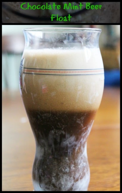 Chocolate Mint Beer Float