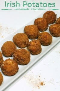 Irish Potatoes recipe - easy homemade recipe with 6 ingredients - perfect for St. Patrick's Day