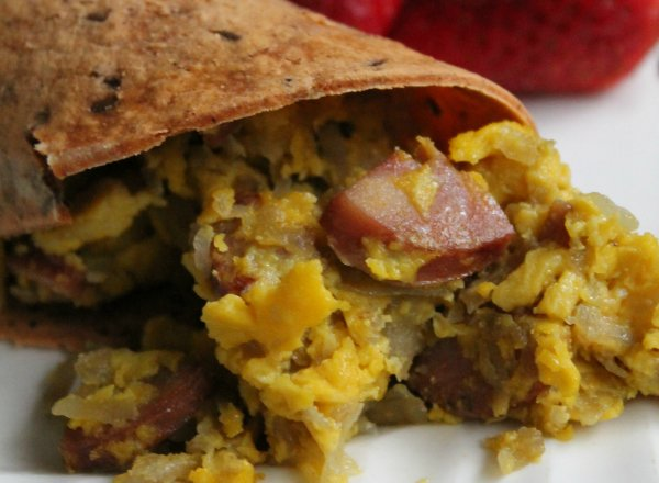 Smoked Sausage, Hash Brown and Egg Wrap