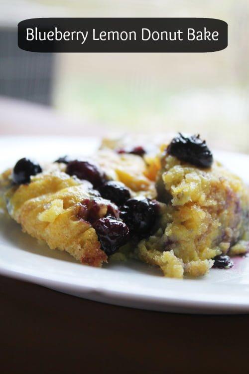 Blueberry Lemon Donut French Toast Bake