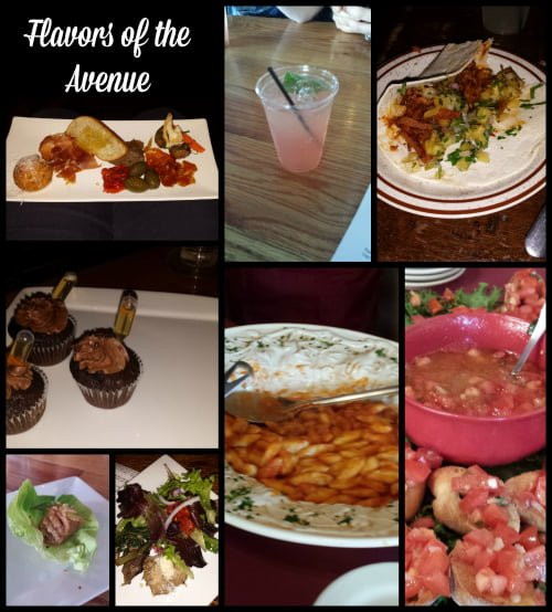 Collage of Flavors of the Avenue preview tour