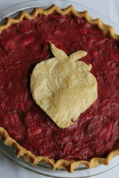 Pie Crust Art - strawberry cut out
