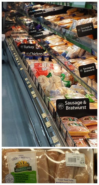 harvestland organic chicken in walmart meat aisle
