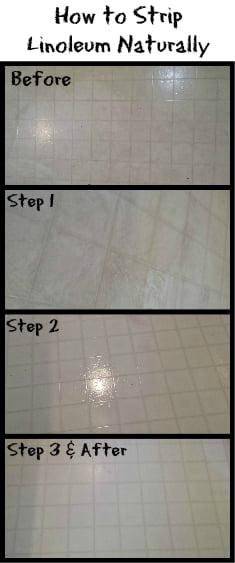 steps for how to strip linoleum naturally