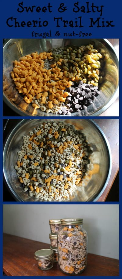 sweet and salty cheerio trail mix frugal nut free
