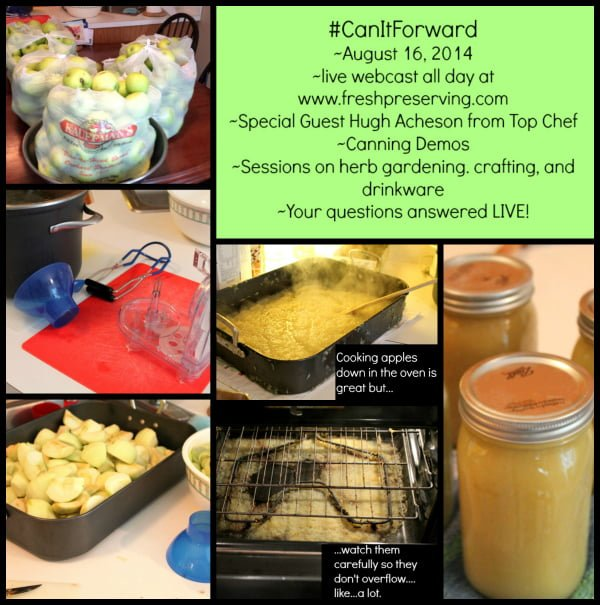 #CanItForward Day information and applesauce making