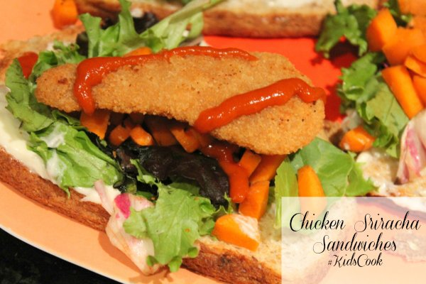 Easy Kids Recipes Chicken Sriracha Sandwich