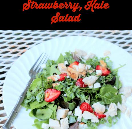 roasted chicken strawberry kale salad