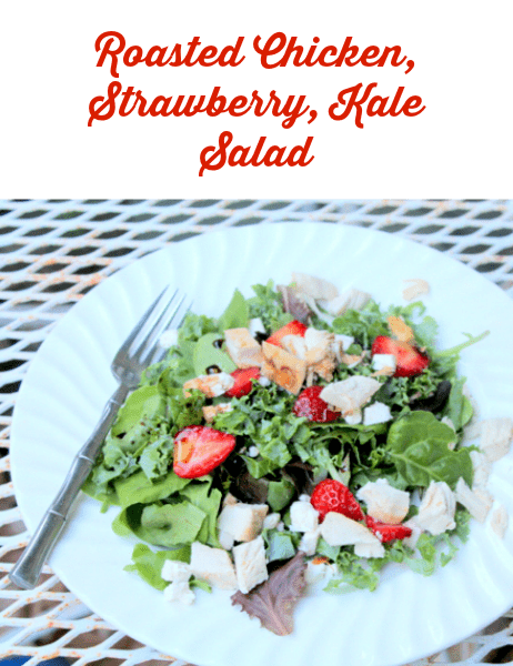 roasted chicken strawberry kale salad