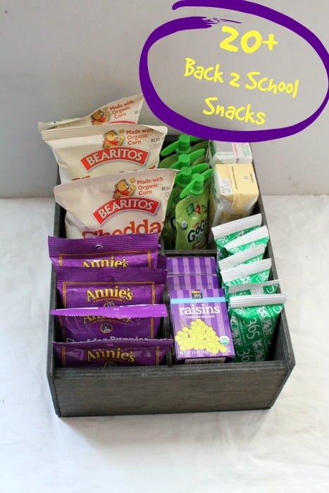 20+ Back to School Snack Ideas
