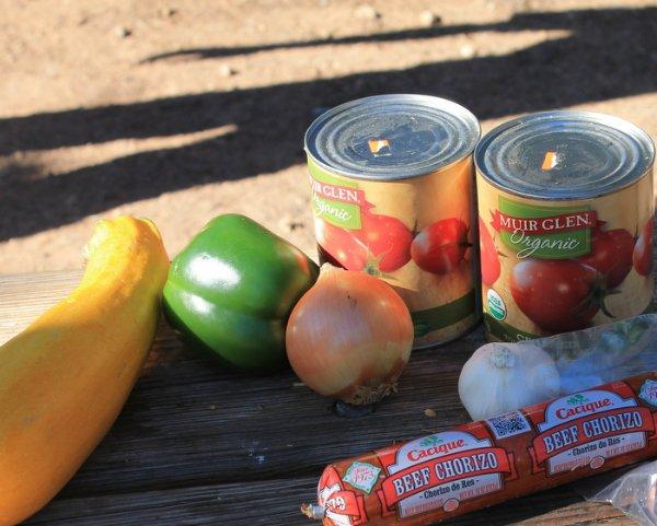 ingredients for chorizo zucchini chili