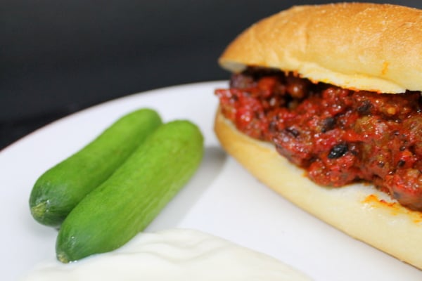 Cutecumbers, plain yogurt, and Spicy sausage and pepper sandwich www.realthekitchenandbeyond.com