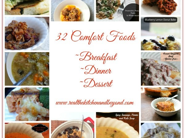 32 comfort food recipes | www.realthekitchenandbeyond.com