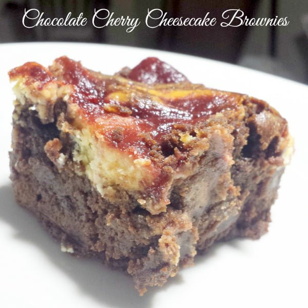 Chocolate Cherry Cheesecake Brownie Recipe www.realthekitchenandbeyond.com