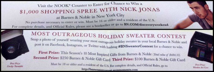 Contests at Barnes Noble Discovery Weekend
