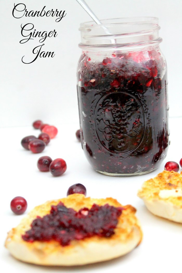 Cranberry Ginger Jam ~ a quick and easy, sweet and tart fresh cranberry recipe from www.realthekitchenandbeyond.com