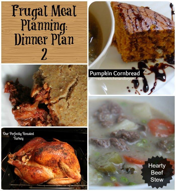 Frugal Meal Planning Dinner Plan 2