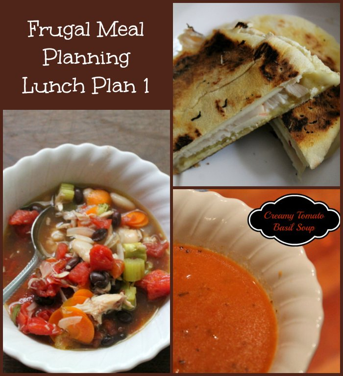 Frugal Meal Planning Lunch Plan 1
