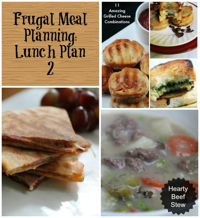 Frugal Meal Planning Lunch Plan 2