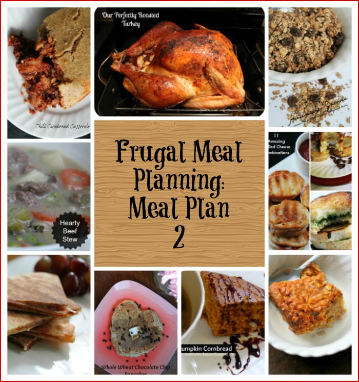 Frugal Meal Planning Meal Plan 2
