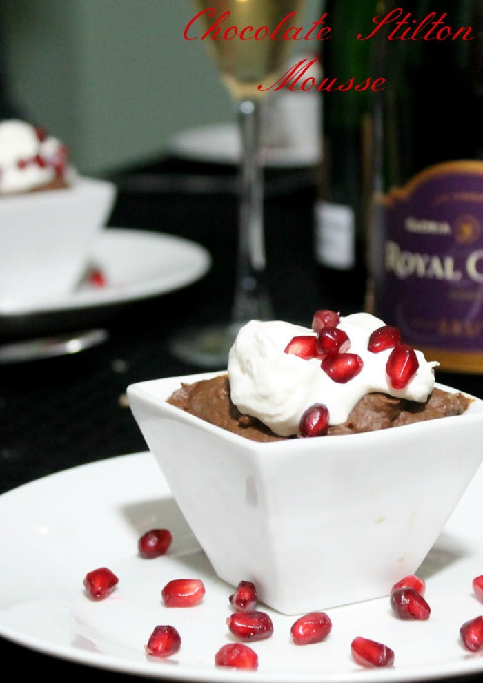 Egg-less Chocolate Mousse Recipe with Stilton | www.realthekitchenandbeyond.com