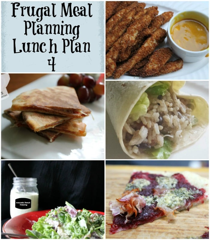 frugal meal planning lunch plan 4
