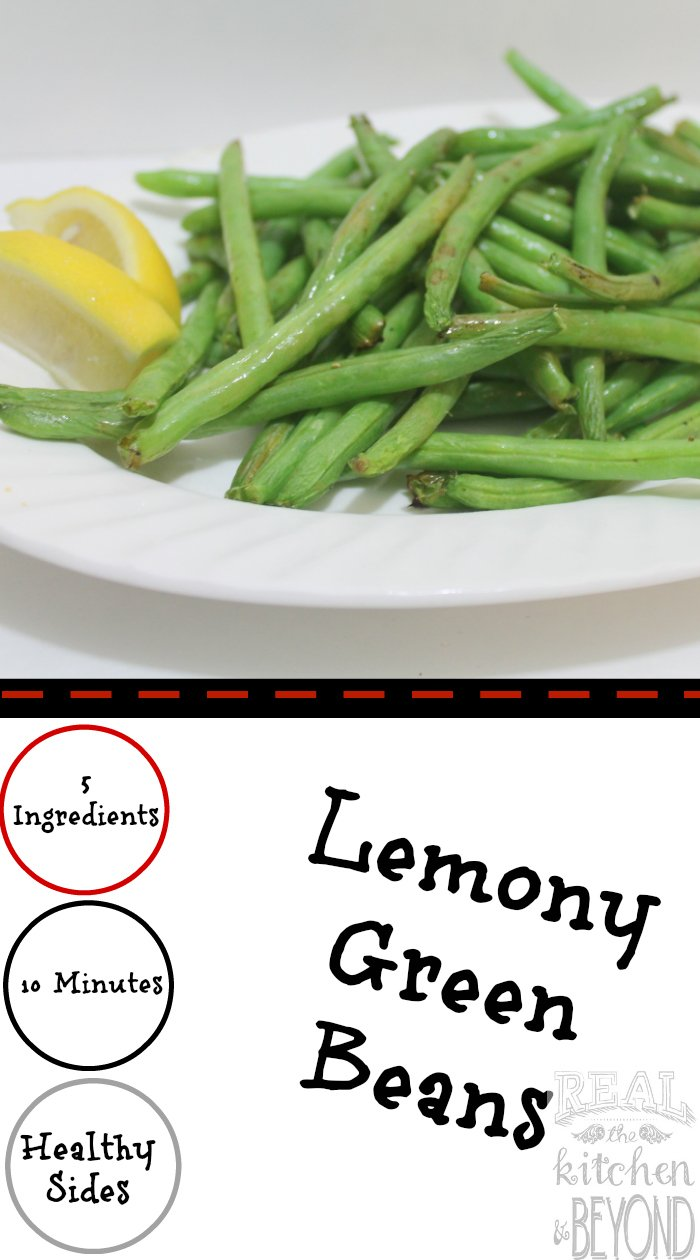 Air Fryer Recipes Lemony Green Bean Recipe | www.realthekitchenandbeyond.com